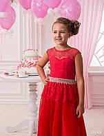 Пышное детское платье с кружевом и небольшым шикарным бантом