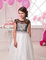 Элегантное детское платье с гипюровым верхом