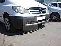 Защита переднего бампера (одинарный ус/губа) Mercedes-benz vito (w639) (мерседес-бенц вито) 2004г+