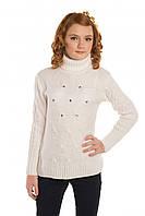 Теплый вязаный свитер для девочки (разные цвета)