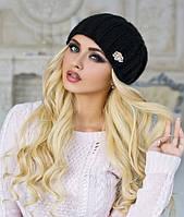 Зимняя женская вязаная шапка объемная в 9ти цветах 4157