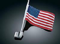Флагшток (флаг США) на антенну мотоцикла хром