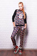 Модный женский костюм, кофта (свитшот) + брюки