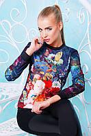 Женский свитшот с цветочным рисунком