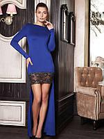 Женское кружевное вечернее платье со шлейфом