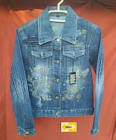 Подростковая джинсовая куртка - пиджак от 8-9 лет