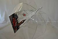 """Прозрачный женский зонтик-трость грибком от фирмы """"Monsoon""""."""