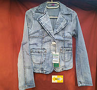 Подросток девочка джинсовый пиджак, куртка от 8 лет