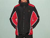 Куртка мужская зимняя молодежная черно-красная