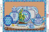 Схема для вышивки бисером Натюрморт. Для кухни