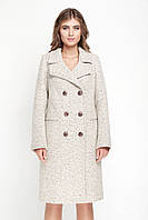 Женское двубортное твидовое пальто, разные цвета