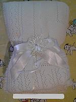 Плед-Конверт для новорожденного осень-зима с бантом(белый)