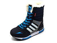 Кроссовки зимние, на меху, Adidas ZX 700, высокие, фото 1