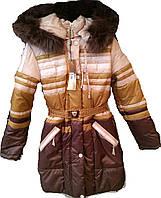 Куртка (пальто) зимняя на девочку на синтепоне