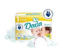 Подгузники Дада Dada 1 newborn 2-5кг 28шт