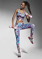 Лосины для фитнеса с разноцветным принтом Caty 90 Bas Bleu (Бас Блю)
