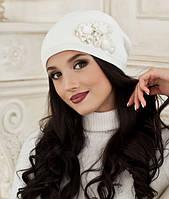 Зимняя женская шапка с украшением в 4х цветах 5002