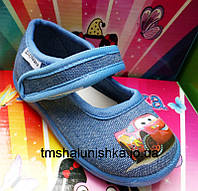Детские мокасины текстильные для мальчика голубые Шалунишка
