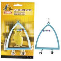 Karlie Flamingo (Карли Фламинго) Swing+Abacus+Bell жердочка колокольчик и счеты игрушка для птиц 10х13 см