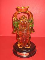 Хоттей, статуэтка, искусственный янтарь, Н26 см, Фен шуй, Днепропетровск