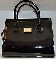 Женская сумка лаковая вместительная