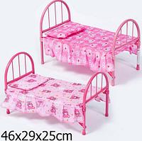 Кроватка игрушечная для кукол железная 9342