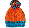 Женская шапка бумбон вязанная