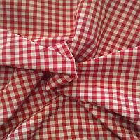 Ткань Рубашечная, рубашка, ткань на рубашку (Красный+белый)