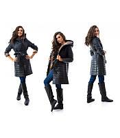 Женское демисезонное пальто на синтепоне