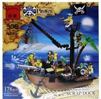 """Конструктор Brick 306 """"Корабль с пиратами"""", Конструктор Брик"""
