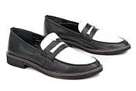 Кожаные черно-белые туфли Step
