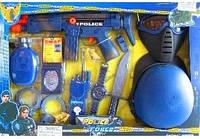 Детский набор полицейского: автомат, каска, фляга, маска