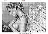 Схема для вышивки бисером Девушка Ангел