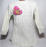 Детский свитер туника на девочку с бусинами
