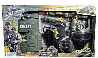 Детский военный набор 9 аксессуаров: автомат, жилет, бинокль, маска