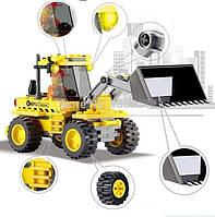 Конструктор KAZI 8042 Строительная техника, Бульдозер, 117 деталей