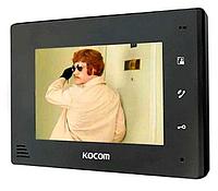 Видеодомофон  KOCOM KCV-A374 BLACK / WHITE (без узора на корпусе)