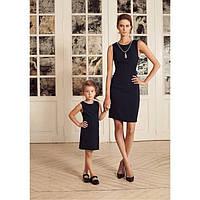 Комплект одинаковый платьев для мамы и дочки в трикотаже