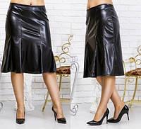 Женская юбка эко кожа (48-54)  код 116 Б