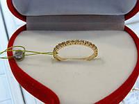 Кольцо золотое с цирконием