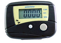 Педометр: счетчик шагов, калорий, км, ЖК дисплей\