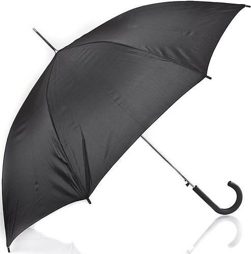 Изящный зонт-трость мужской полуавтомат Rainy Days (Рейни Дейс) U70967, (черный)