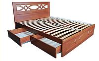 Кровать с ящиками для белья Лиана двуспальная с ортопедическими ламелями