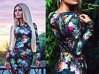 Женское платье миди в цветы