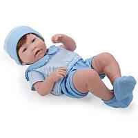 Кукла младенец мальчик Nino в голубом наряде, 43 см.  Berenguer