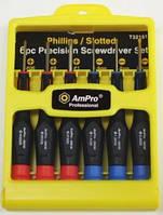 Набор микроотверток, 6 предметов AmPro T32151