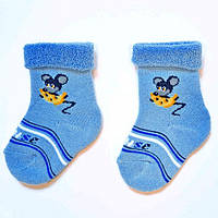 Теплые махровые носки для малышей с отворотом ТМ Дюна (арт.409)