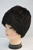 Шапка кубанка женская из натурального меха черная