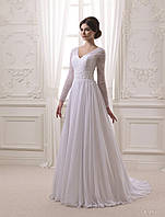 Романтическое свадебное платье в стиле Джуллеты, украшено нежными бусинами
