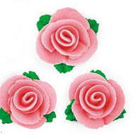 """Набор """"Розы средние 3шт"""" розовые(код 01538)"""